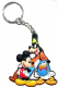 Mickey Mouse, Goofy, Donald Duck PVC flexible keyring (ff)
